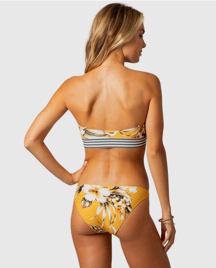 Island Time Good Coverage Bikini Bottom in Mustard