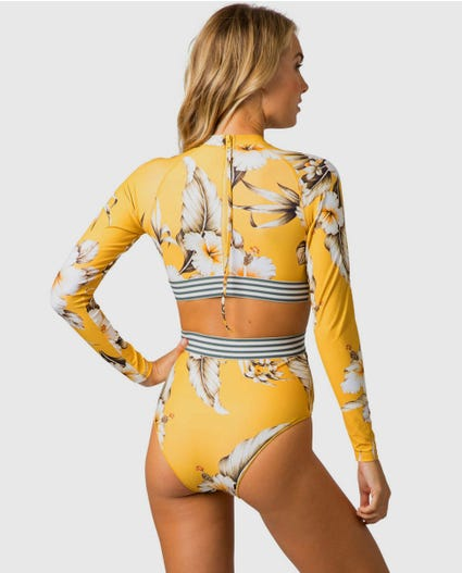 Island Time Long Sleeve Surf Suit in Mustard