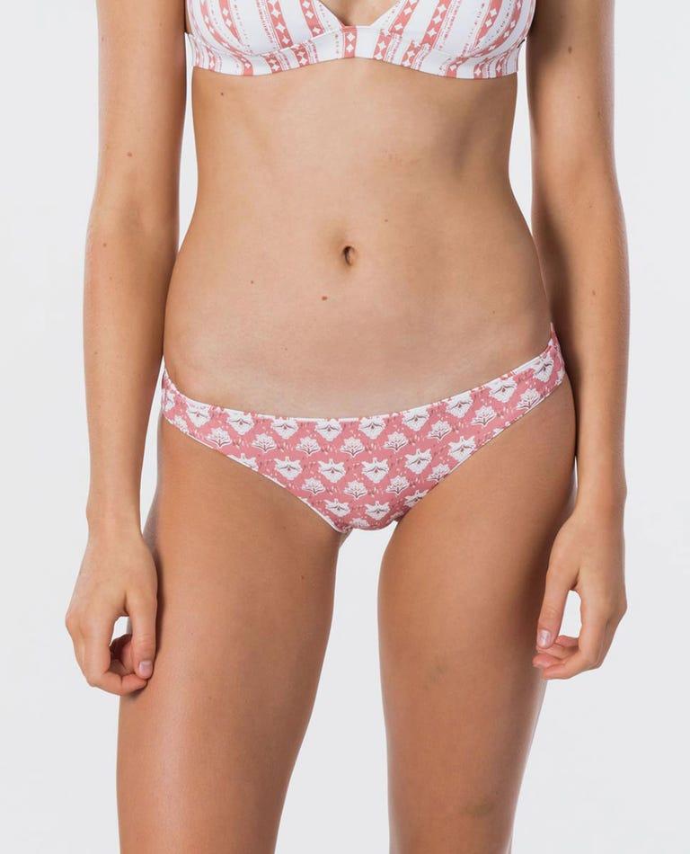Navy Beach Reversible Cheeky Coverage Bikini Pant in Dusty Rose