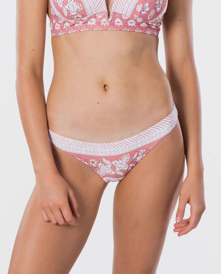 Navy Beach Full Coverage Bikini Pant in Dusty Rose
