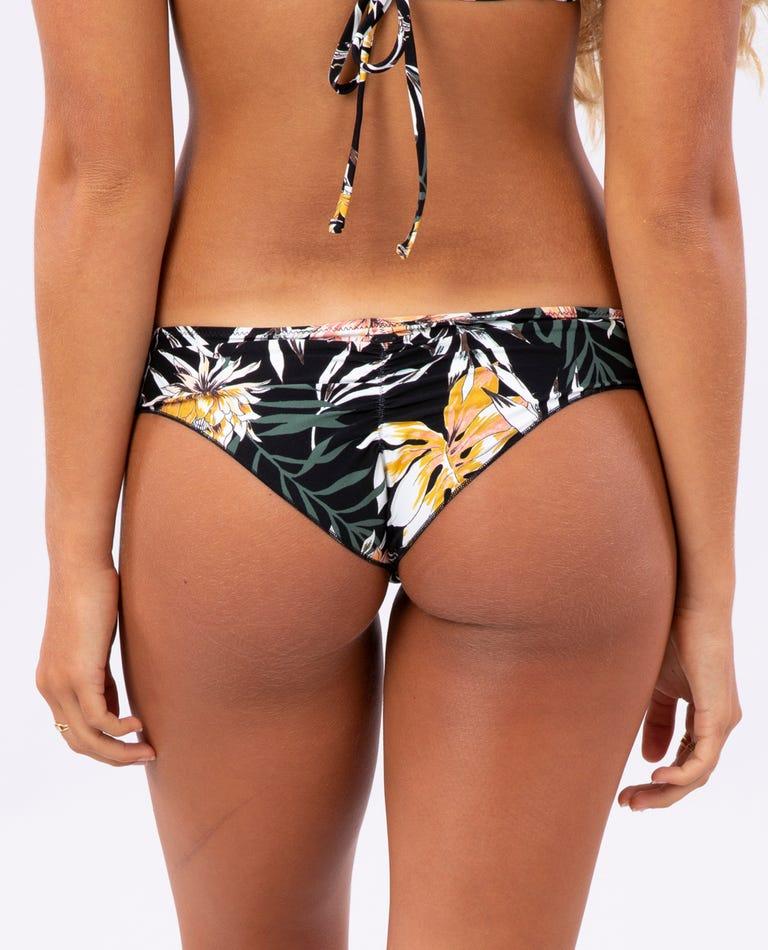 Playa Blanca Ruched Cheeky Coverage Bikini Pant in Black