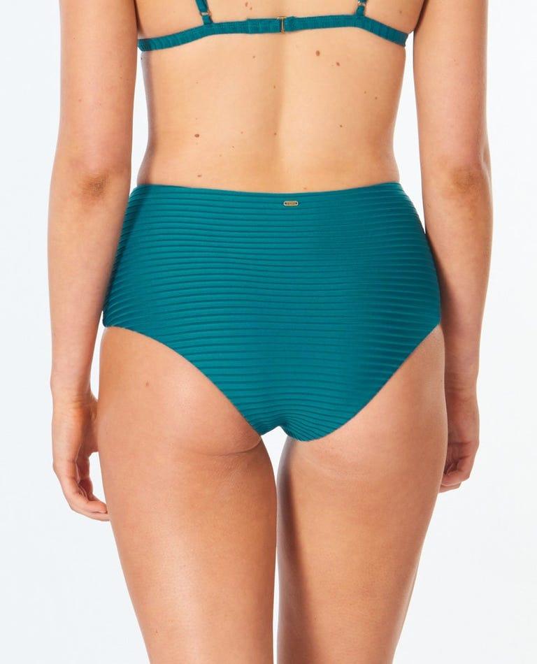 Premium Surf High Waist Good Bikini Bottom in Jade
