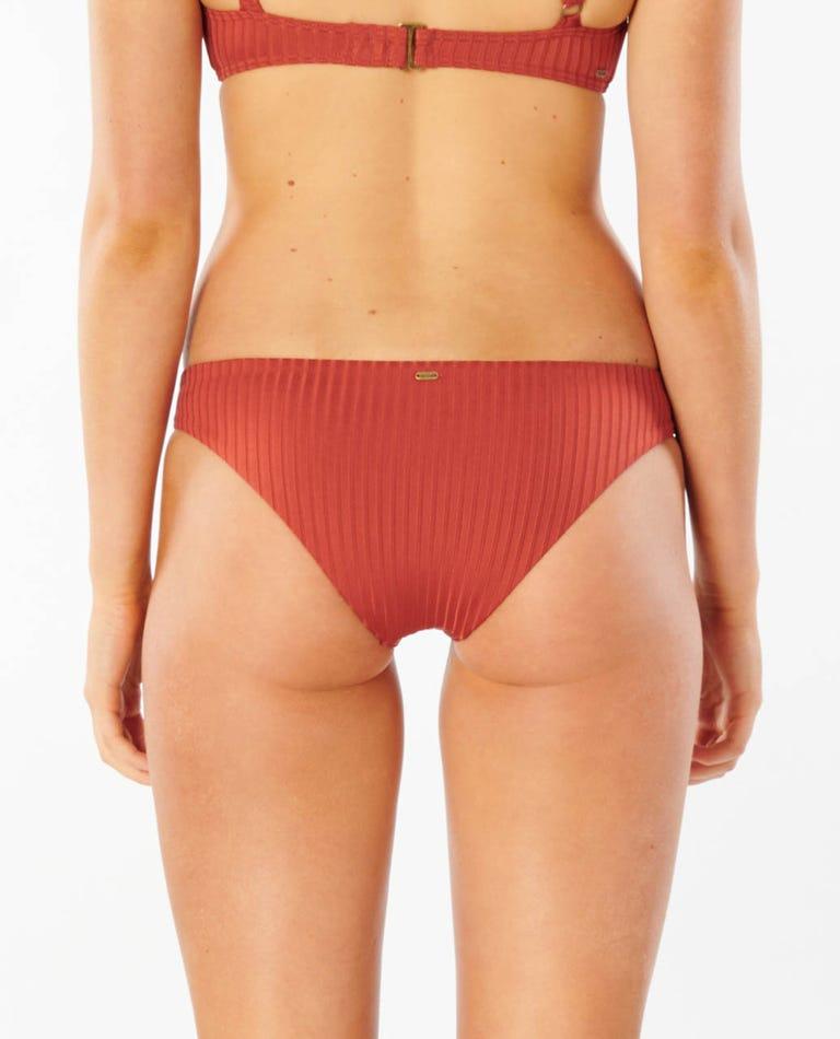 Premium Surf Cheeky Bikini Bottom in Brick