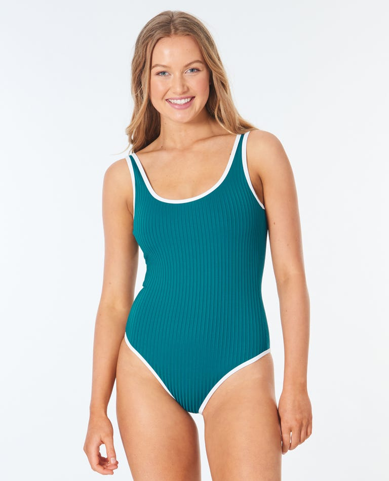 Premium Surf Cheeky One Piece  in Jade