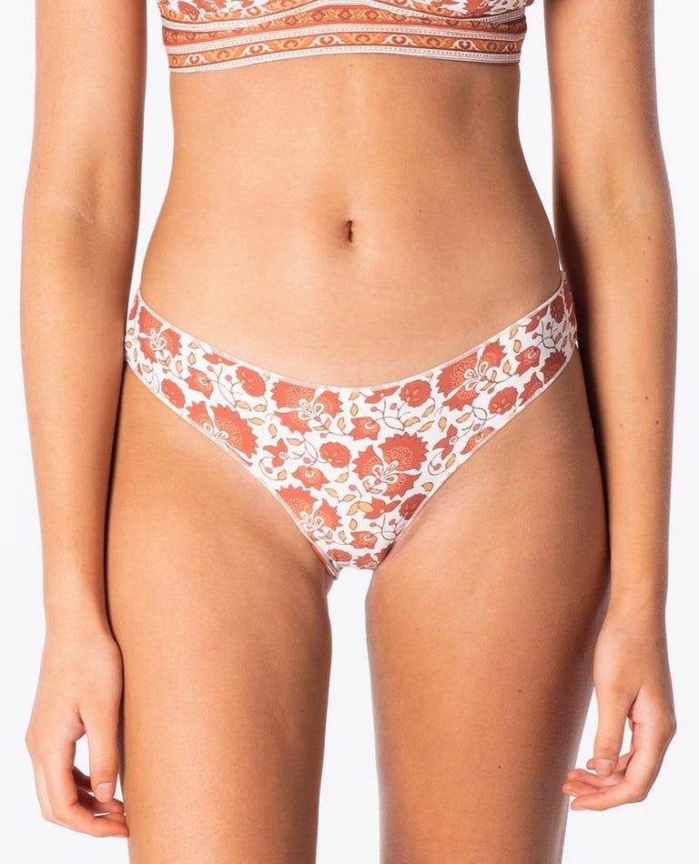 Spice Temple Cheeky Bikini Bottom in Burnt Orange