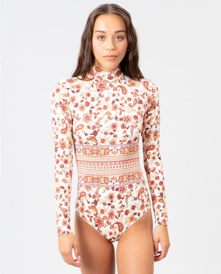 Desert Dawn Long Sleeve Swim Suit in Cream