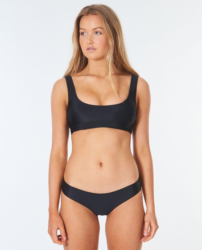 Classic Surf Eco Crop Bikini Top in Black