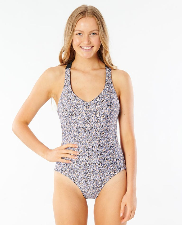 Born At Bells Reversible Cheeky One Piece Swimsuit in Black