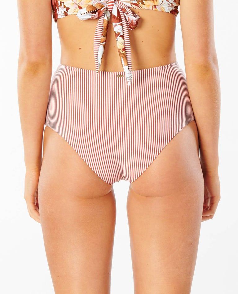 Leilani High Waist Good Bikini Bottom in Brick