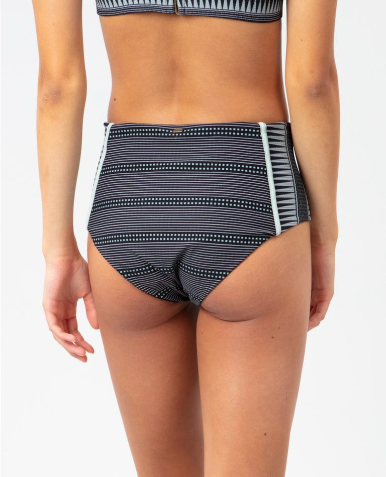 Salty Daze High Waisted Good Bikini Bottom in Black