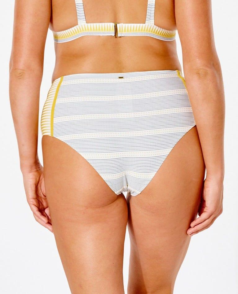 Salty Daze High Waisted Good Bikini Bottom in Gold