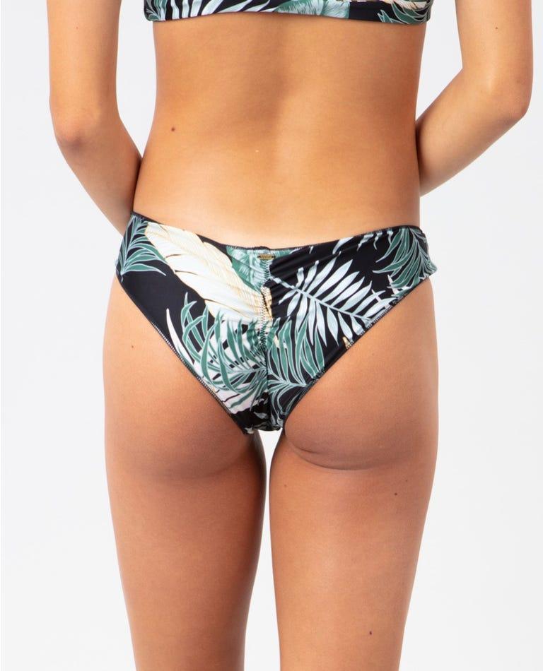 Coastal Palms Cheeky Hipster Bikini Bottom in Black