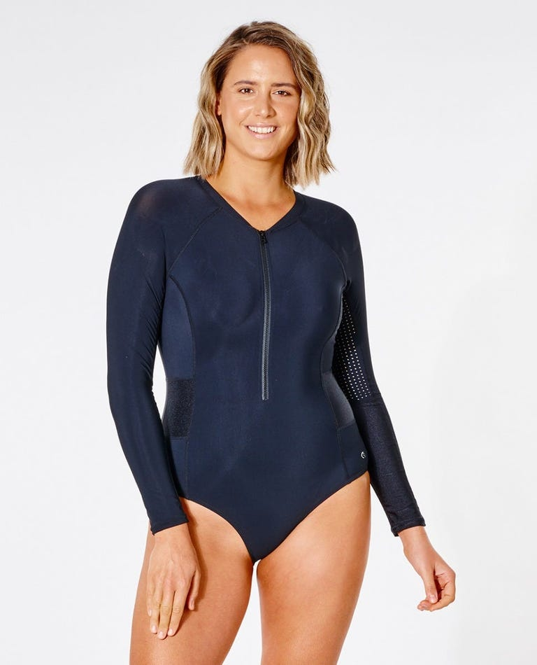 Mirage Ultimate Long Sleeve Swimsuit in Black