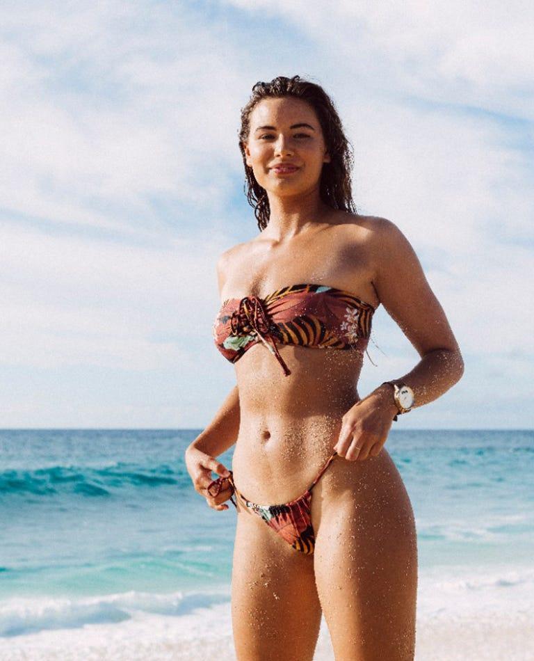 Island Time Bare Bikini Bottom in Black