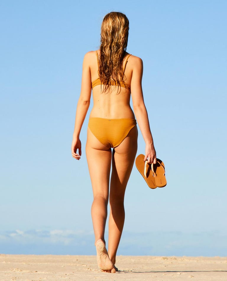 Premium Surf Good Bikini Pant in Mustard