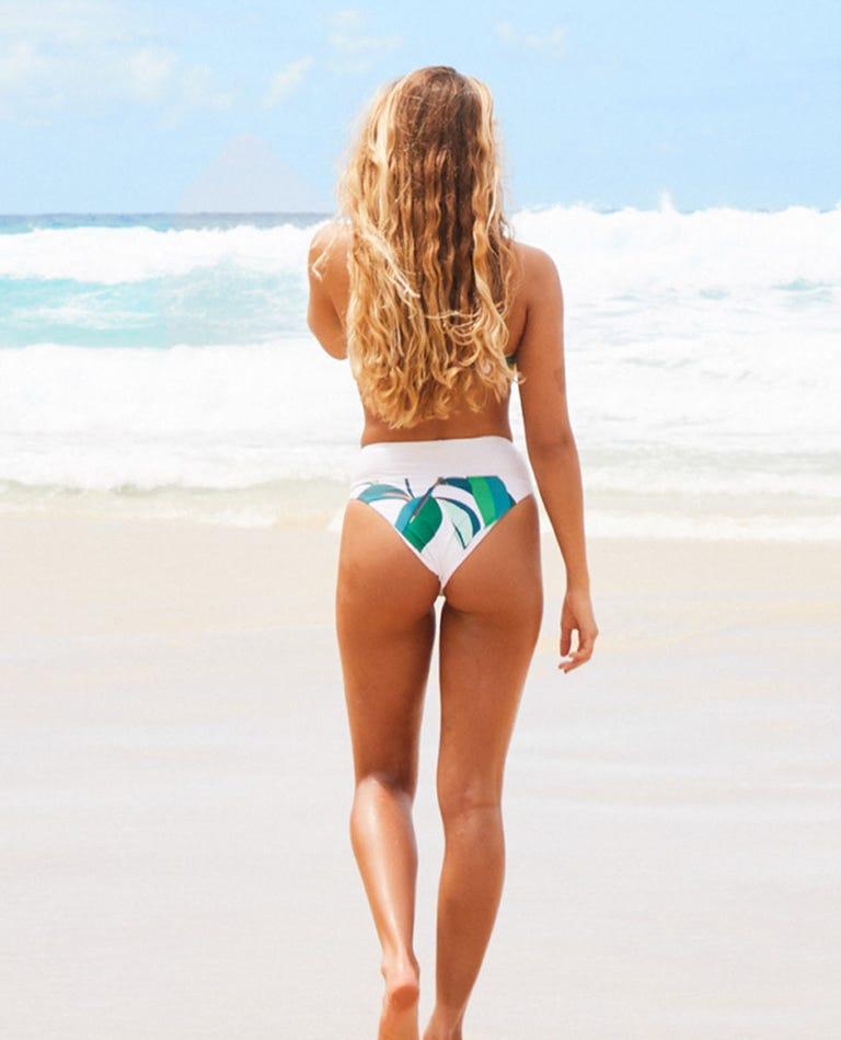 Palm Bay High Waisted Cheeky Coverage Bikini Pant in White
