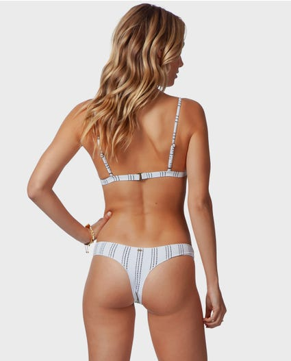 Summer Sway Bare Bikini Bottom in White