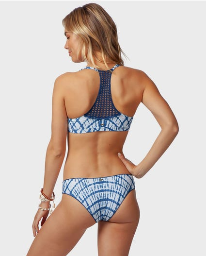 Ocean Mist Cheeky Bikini Bottom in Blue