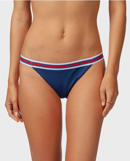 Track Star Cheeky Bikini Bottom in Navy