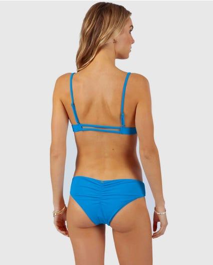 Float Collective Triangle Bikini Top in Blue