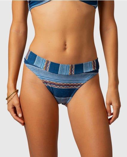Riversong Skimpy Hi Leg Bikini Bottom in Navy