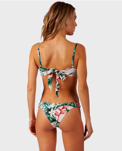 Tropic Heat Skimpy Hi Leg Bikini Bottom in Black