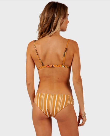 Sun Chasers Reversible Hipster Bikini Bottom in Rust