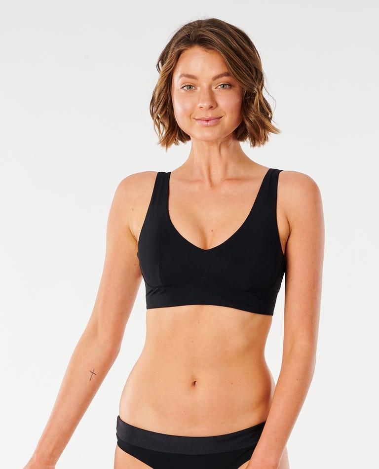 Mirage Ultimate Deep V Bikini Top in Black