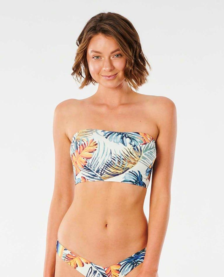 Sayulita Longline Bandeau Bikini Top in Bone