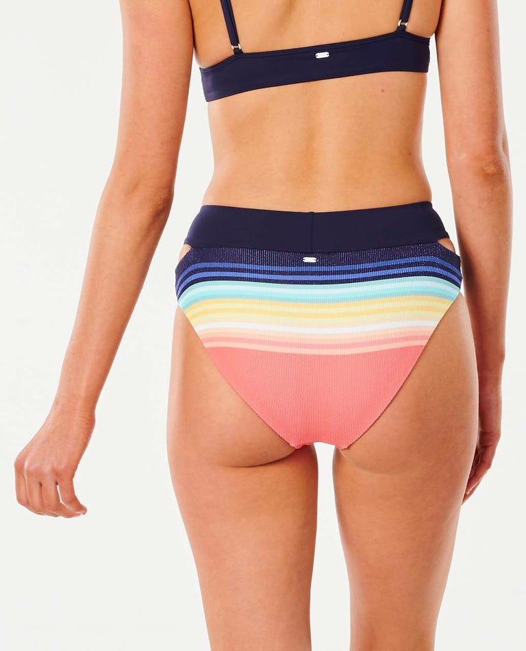 Sayulita Stripe Banded Good Coverage Bikini Pant in Indigo