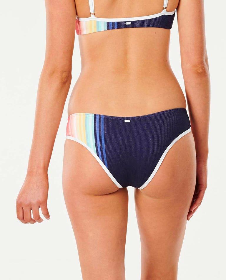 Sayulita Stripe Cheeky Coverage Bikini Pant in Indigo