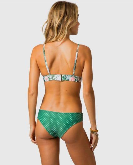 Morning Sky Fixed Tri Bikini Top in Green