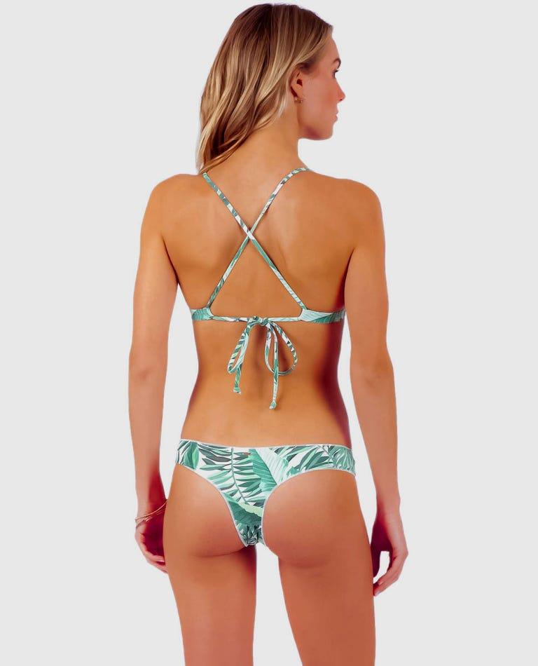 Palm Reader Bare Bikini Bottom in Green