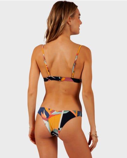 Seascape Fixed Tri Bikini Top in Multico