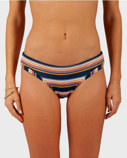 Throwback Cheeky Bikini Bottom in Navy