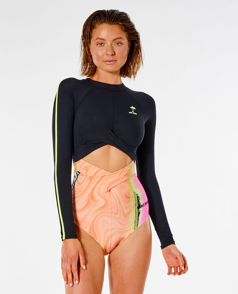 Twin Fin Surf Suit in Pink
