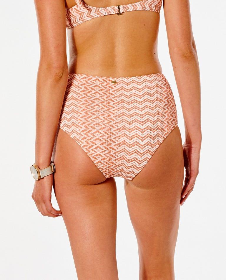 Drifter High Waist Good Bikini Bottom in Rhubarb