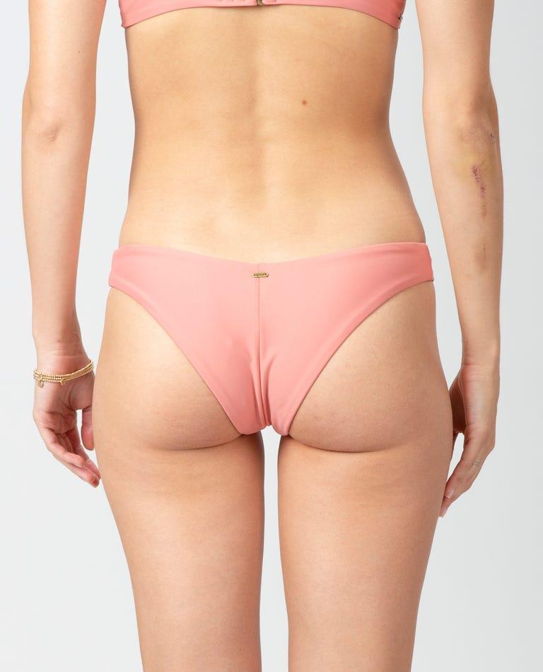 Premium Surf Eco Skimpy Hi Leg Bikini Bottom in Salmon
