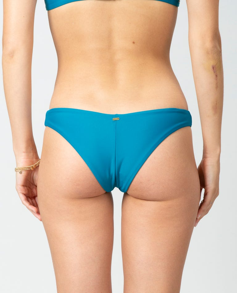Premium Surf Eco Skimpy Hi Leg Bikini Bottom in Teal