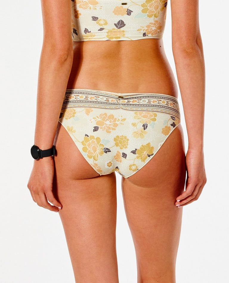 Surf Gypsy Full Coverage Bikini Bottom in Off White