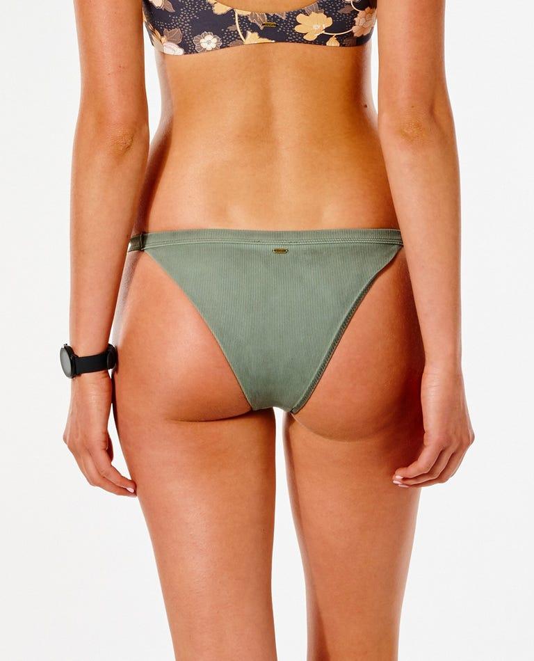 Surf Gypsy Banded Skimpy Coverage Bikini Bottom in Olive