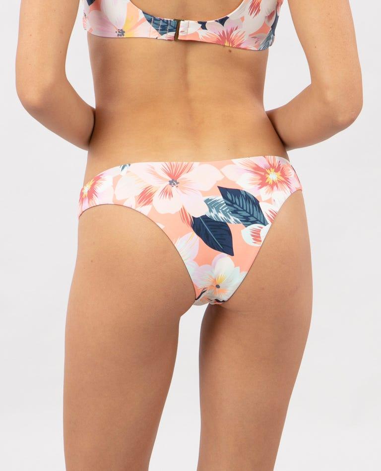 Super Bloom High Leg Skimpy Bikini Bottom in Multi