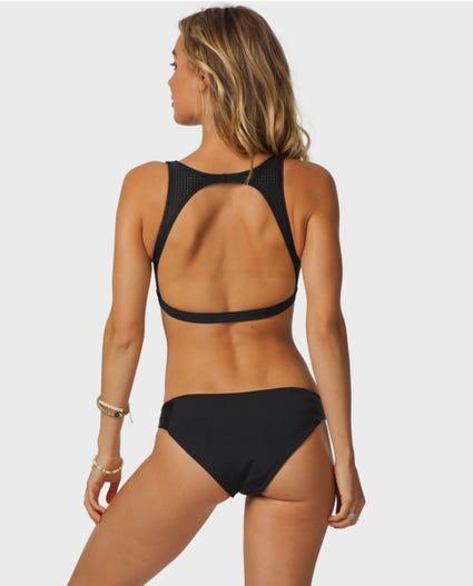 Mirage Ultimate Crop Bikini Top in Black
