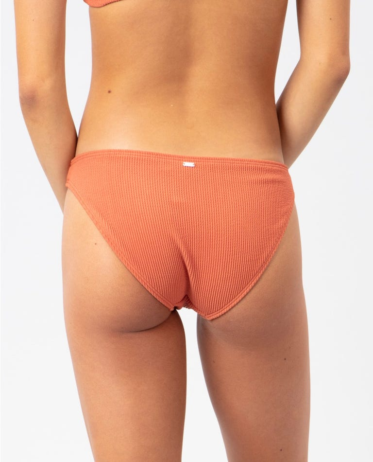 Solid Good Coverage Bikini Pant in Red