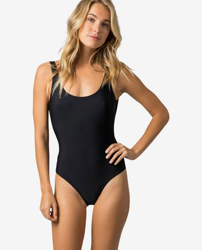 Classic Surf Tank One Piece in Black