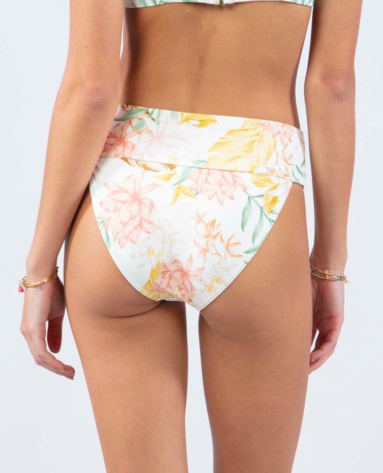 La Bonita High Waist Cheeky Bikini Bottom in Bone