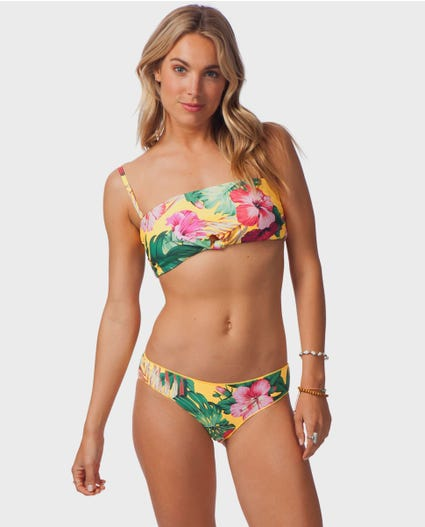 Hanalei Bay Bandeau Bikini Top in Mango