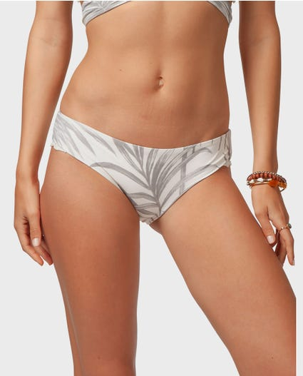 Shorelines Cheeky Bikini Bottom in Off White
