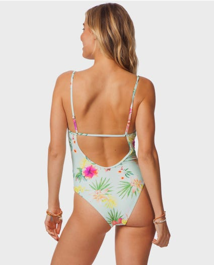 Sweet Aloha Cheeky One Piece in Aqua