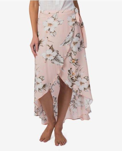 Island Time Wrap Skirt in Peach